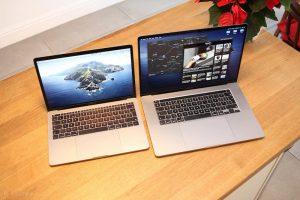 Размеры Макбук Про 16 по сравнению с другими моделями