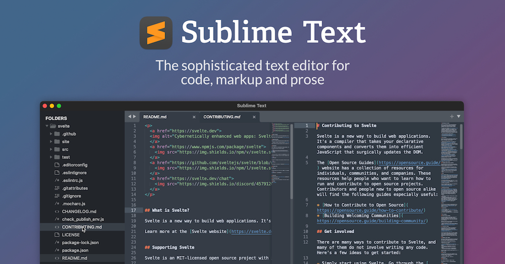Sublime Text аналог Notepad++