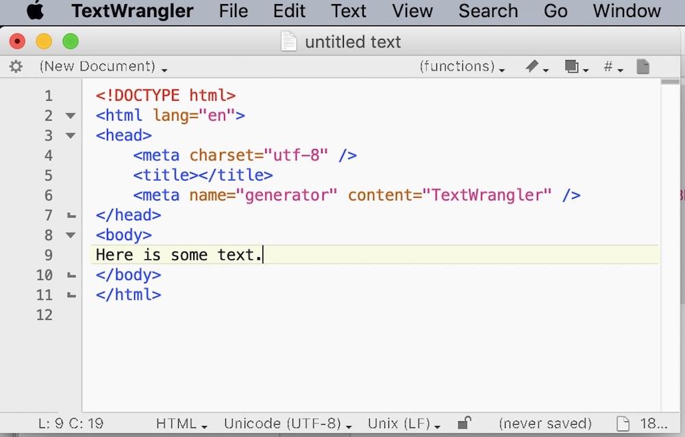 TextWrangler обзор